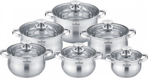 Набор посуды MAXMARK MK-BL2512B 12пр.
