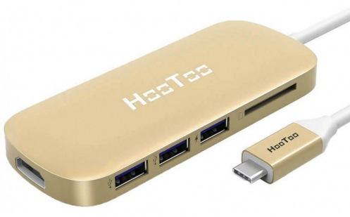 USB-хаб HooToo Shuttle Type-C Hub Gold (HT-UC001-GD)