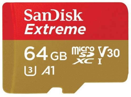 Карта памяти SANDISK microSDXC 64GB A1 C10 V30 UHS-I U3