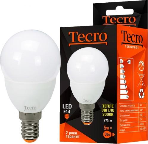 Лампа Tecro T-G45-5W-3K-E14