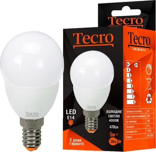 Лампа Tecro T-G45-5W-4K-E14