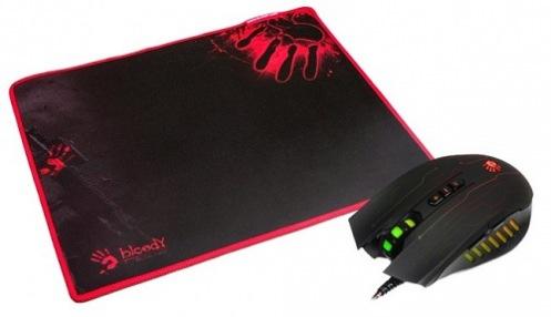Мышь A4Tech Bloody Q8181S + коврик Bloody