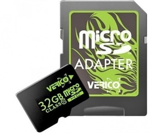 Карта памяти Verico MicroSDHC 32GB Class 10+SD adapter