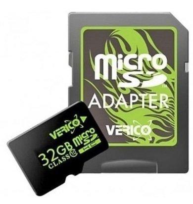 Карта памяти Verico MicroSDHC 32GB UHS-I (Class 10)+SD adapter