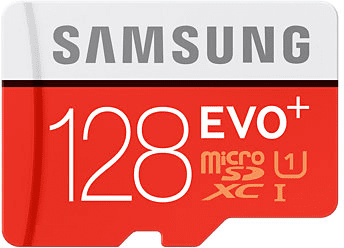 Карта памяти Samsung 128GB microSDXC C10 UHS-I U3 R100/W90MB/s Evo Plus + SD адаптер