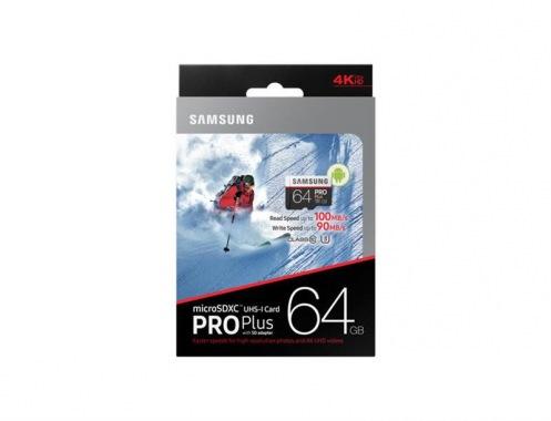 Карта памяти SAMSUNG 64GB microSDXC C10 UHS-I U3 Pro Plus SD