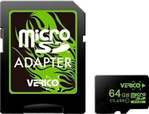 Карта памяти Verico MicroSDXC 64GB Class 10 (UHS-1)+SD adapter