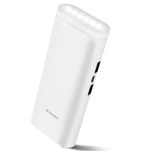 Универсальная мобильная батарея Colorway Flashlight 11000mAh