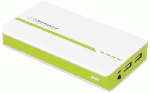 Универсальная мобильная батарея ESPERANZA 11000 mA h White-Green EMP107WG
