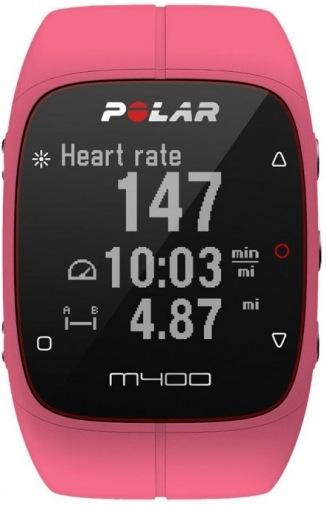 Фитнес-браслет POLAR M400 HR + GPS for Android/iOS Pink (90057194)