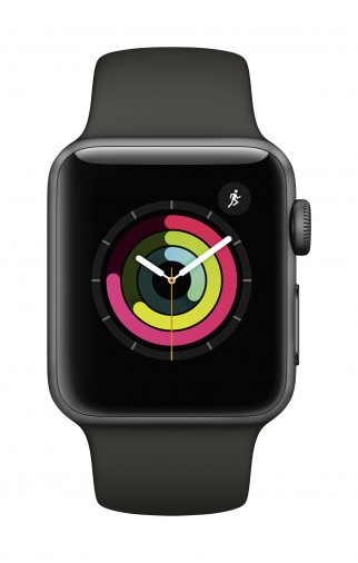 Смарт-часы APPLE Watch S3 42mm Grey/Black (MQL12FS/A)