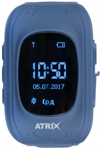 Детские умные часы ATRIX Smart watch iQ300 GPS (Dark Blue)