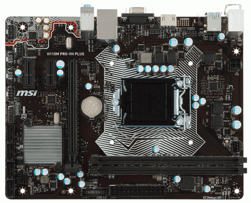 Материнская плата MSI H110M PRO-VH PLUS (s1151, H110) ATX
