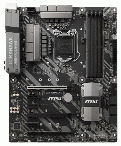 Материнская плата MSI Z370 TOMAHAWK (s1151, Z370) ATX