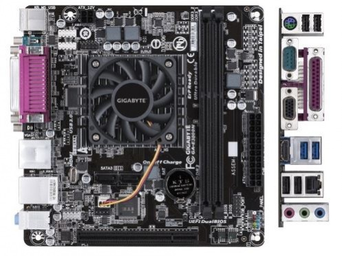 Материнская плата GIGABYTE GA-E3800N (AMD E2-3800 1.3 GHz) mITX