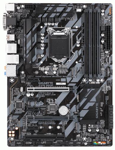 Материнская плата Gigabyte Z370 HD3P (s1151, Z370) ATX