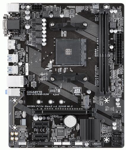 Материнская плата Gigabyte GA-A320M-S2H (AM4 AMD A320) mATX