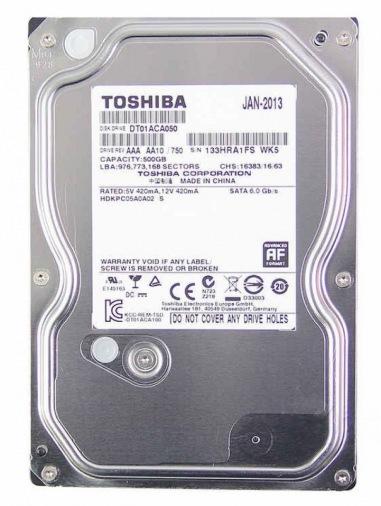 Жесткий диск 500GB Toshiba Storage (DT01ABA050V) S