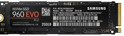 Накопитель SSD 250GB Samsung 960 EVO (MZ-V6E250BW)