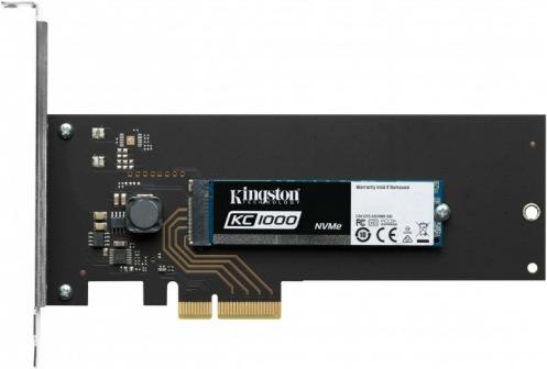 Накопитель SSD 480GB Kingston KC1000 NVMe M.2 + HHHL (SKC1000H/480G)