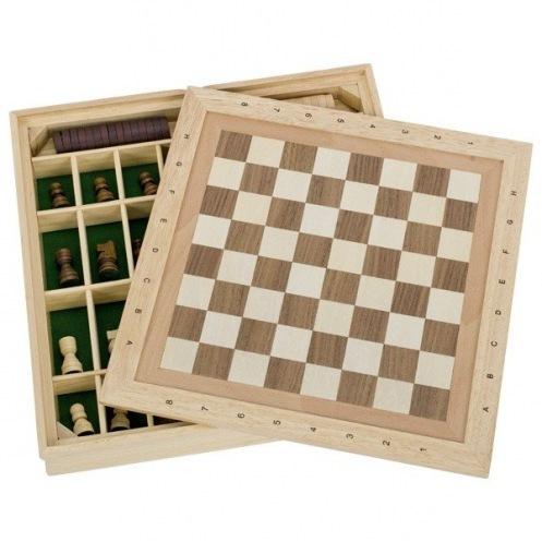 Настольная игра goki Шахматы и шашки + 9 игр 56953G