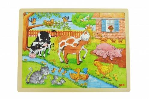Пазл деревянный goki Жизнь на ферме 57745