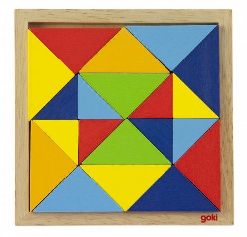 Пазл деревянный goki Мир форм-абстракция 57572-2