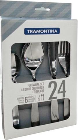Набор столовых приборов TRAMONTINA COSMOS 24пр  коробка 66950/014