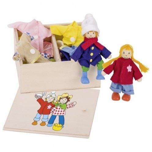 Набор кукол goki Бирта и Бен с одеждой 51557G