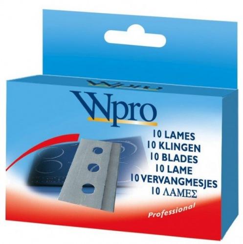 Набор из 10 лезвий для скребка из нержавеющей стали WPRO SWP06216