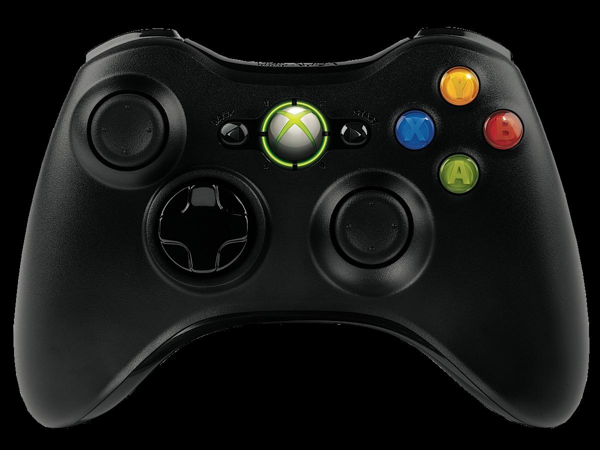 Microsoft Xbox 360 Wireless Controller Black (NSF-00002)