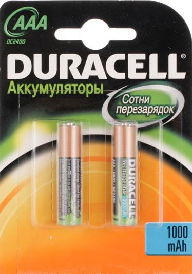 Аккумуляторы DURACELL ААА HR03{NH} 1000мАн (2шт)