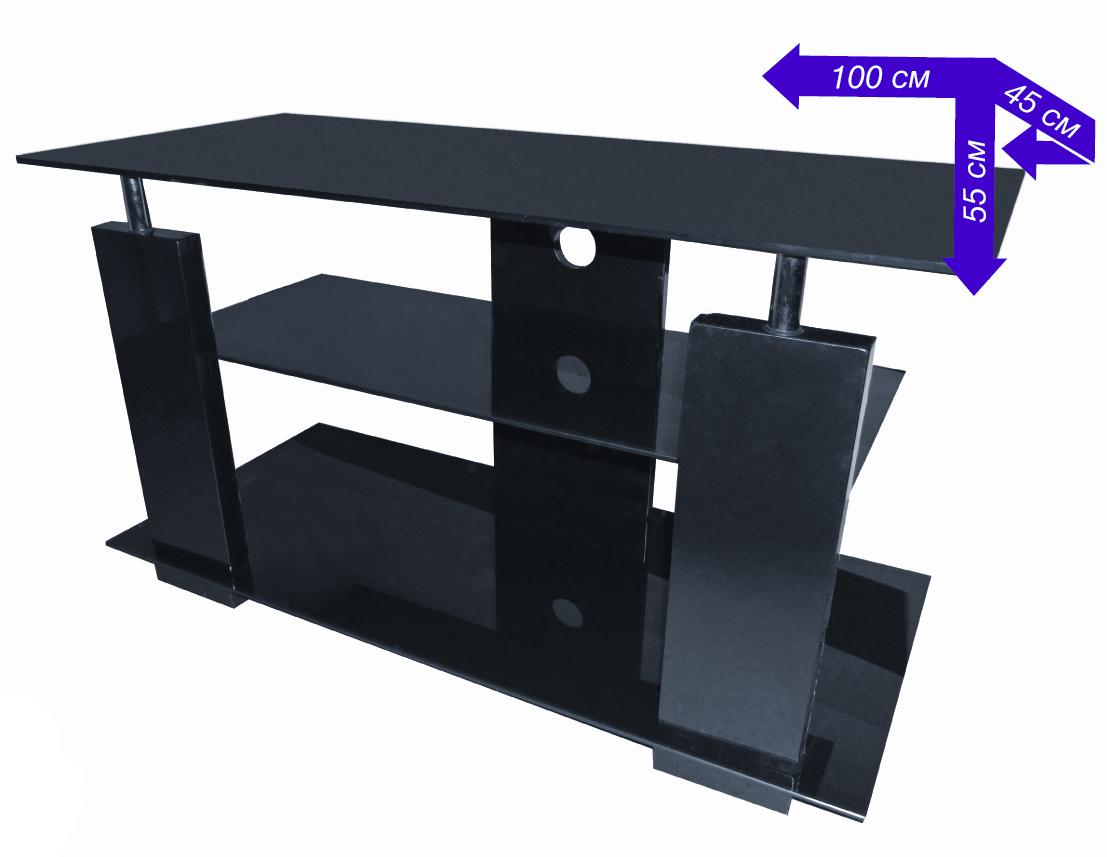 Тумба Glasser TV-705 black (глассер)
