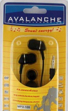 Наушники Avalanche AEF-03-MP3-105 черные