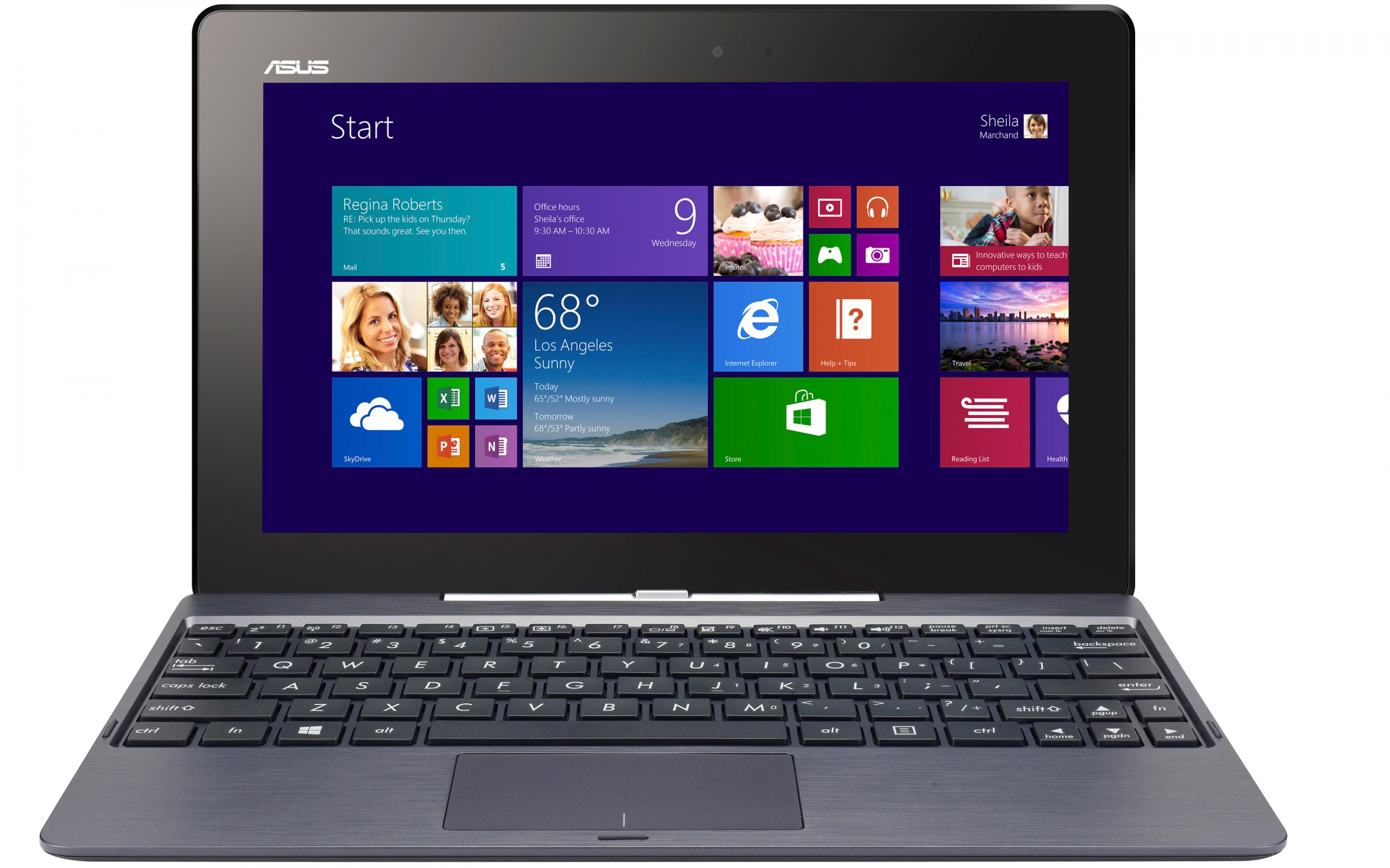 Планшет ASUS Transformer Book 32+500GB Grey T100 (T100TAF-DK078T)