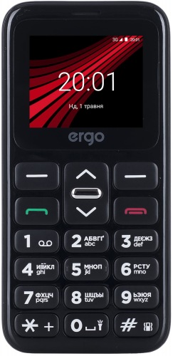 Мобільний телефон ERGO F186 Solace Dual Sim Black