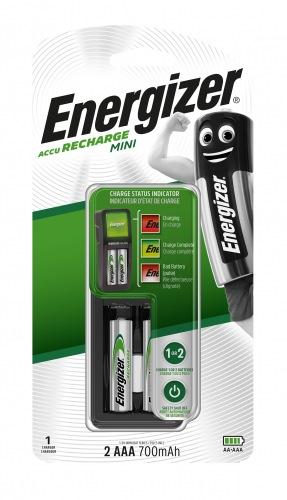 Зарядний пристрій ENERGIZER CH2PC3 Mini EU + 2 AAA 700mAh