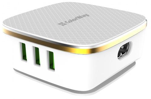 Мережевий зарядний пристрій Сolorway 6USB (1QC3.0 + 5 AUTO ID) 7A 35W