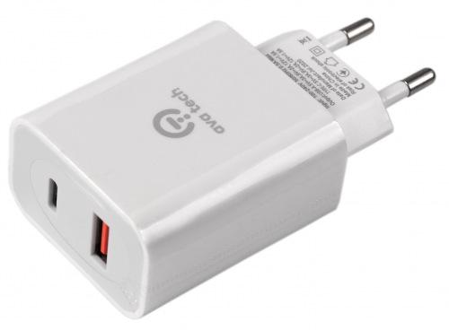 Мережевий зарядний пристрій AVATECH Type-C+USB