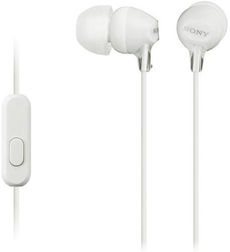 Навушники з мікрофоном SONY MDR-EX15AP White (MDREX15APW.CE7)