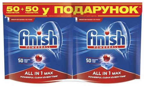 Таблетки FINISH All in 1 (50+50 шт)