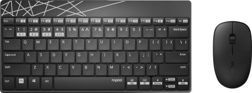 Клавіатура та миша RAPOO 8000M Wireless Black