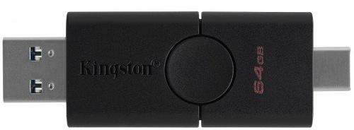 Накопичувач USB 64GB Kingston DataTraveler Duo USB-C 3.2 (DTDE/64GB)