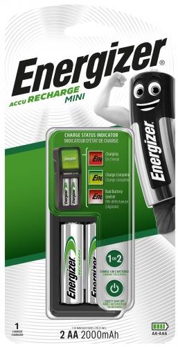 Зарядний пристрій ENERGIZER CH2PC3 Mini EU + 2 AA 2000mAh
