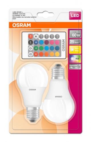 Лампа OSRAM LED ST CLAS A60 FR 9W/2700K E27 + пульт (LEDSCLA60REM 9W)