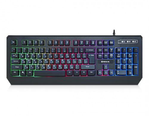 Клавіатура REAL-EL Comfort 7001 Backlit Black