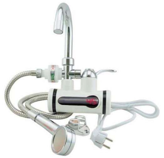 Проточный водонагреватель полной комплектации