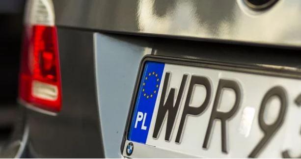 польские номера на автомобиле