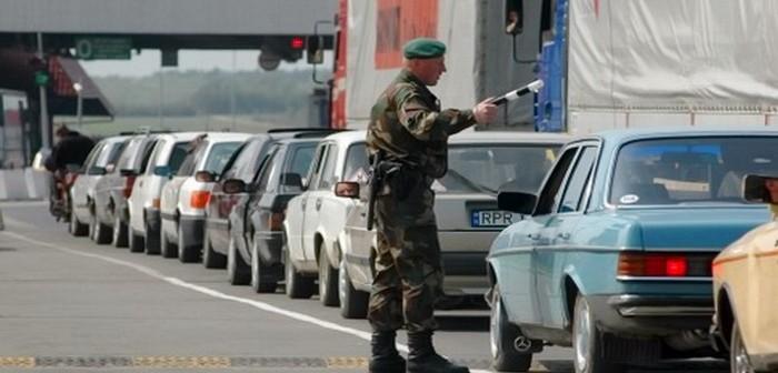 автомобили на границе