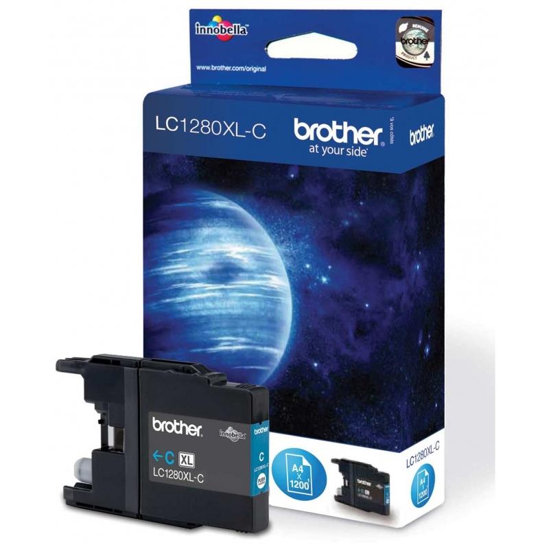 Картридж Brother MFC-J6510DW/ J6910DW XL cyan (LC1280XLC)